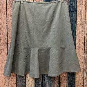 Gray Professional Fit and Flare Skirt